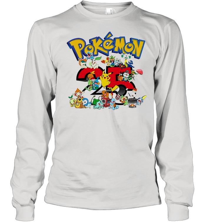 Pokemon 25th Anniversary shirt Long Sleeved T-shirt