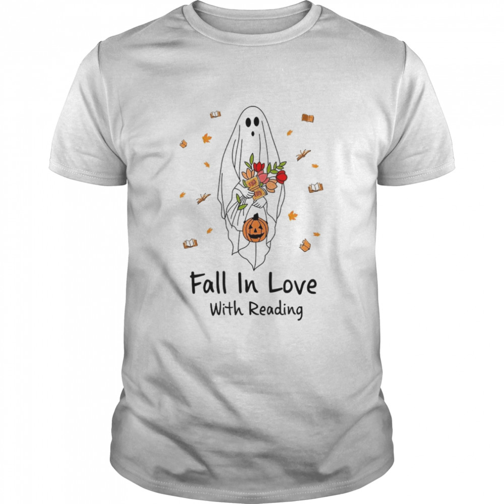 Fall in love with reading shirt