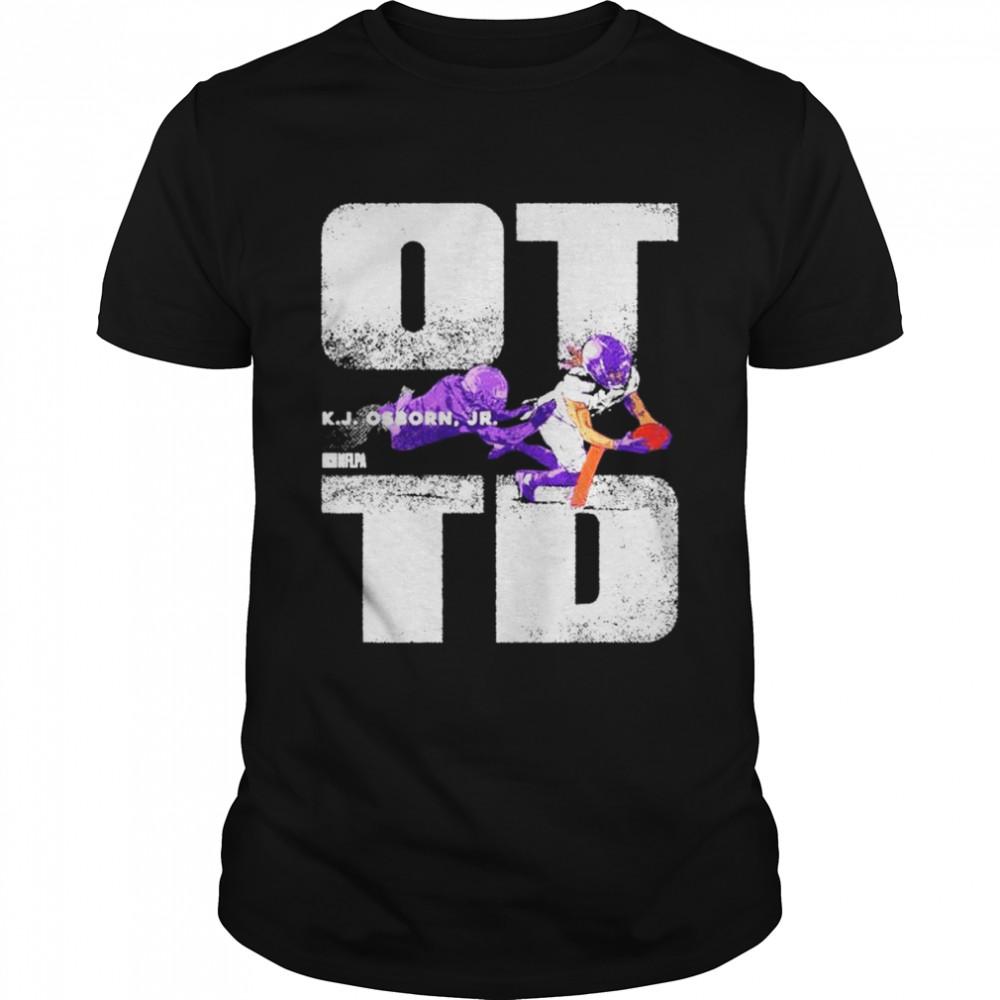 Funny k.J. Osborn Jr. Overtime Minnesota Viking shirt