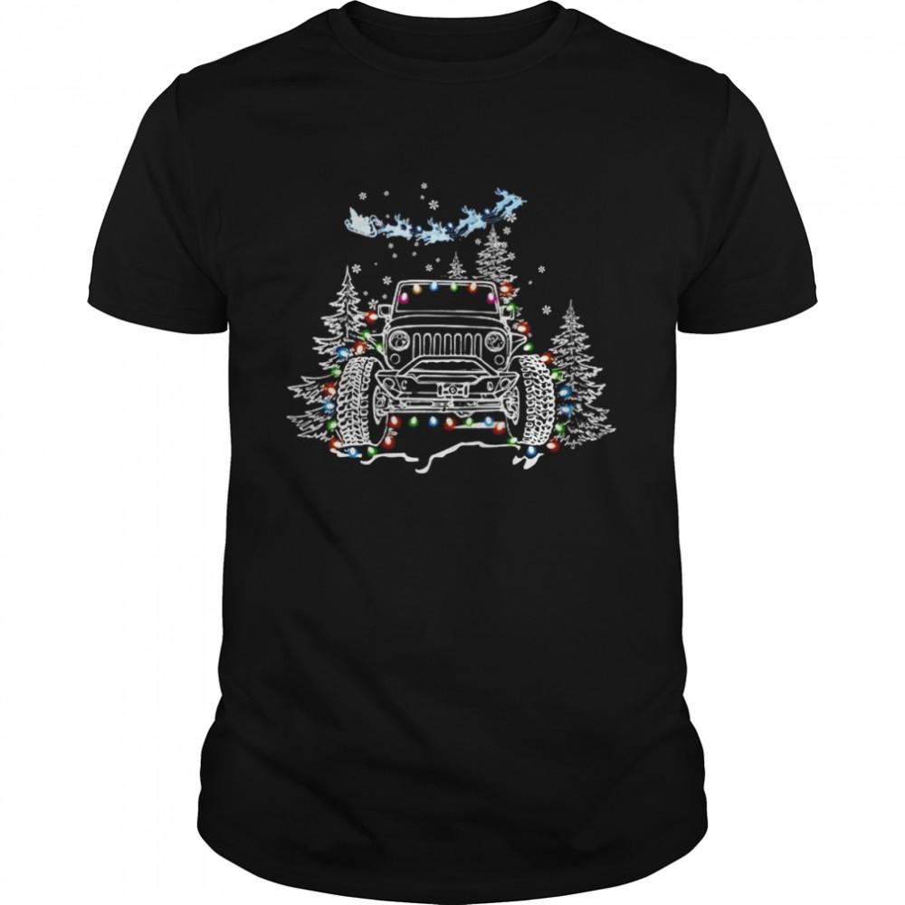 Jeep Light Merry Christmas Shirt