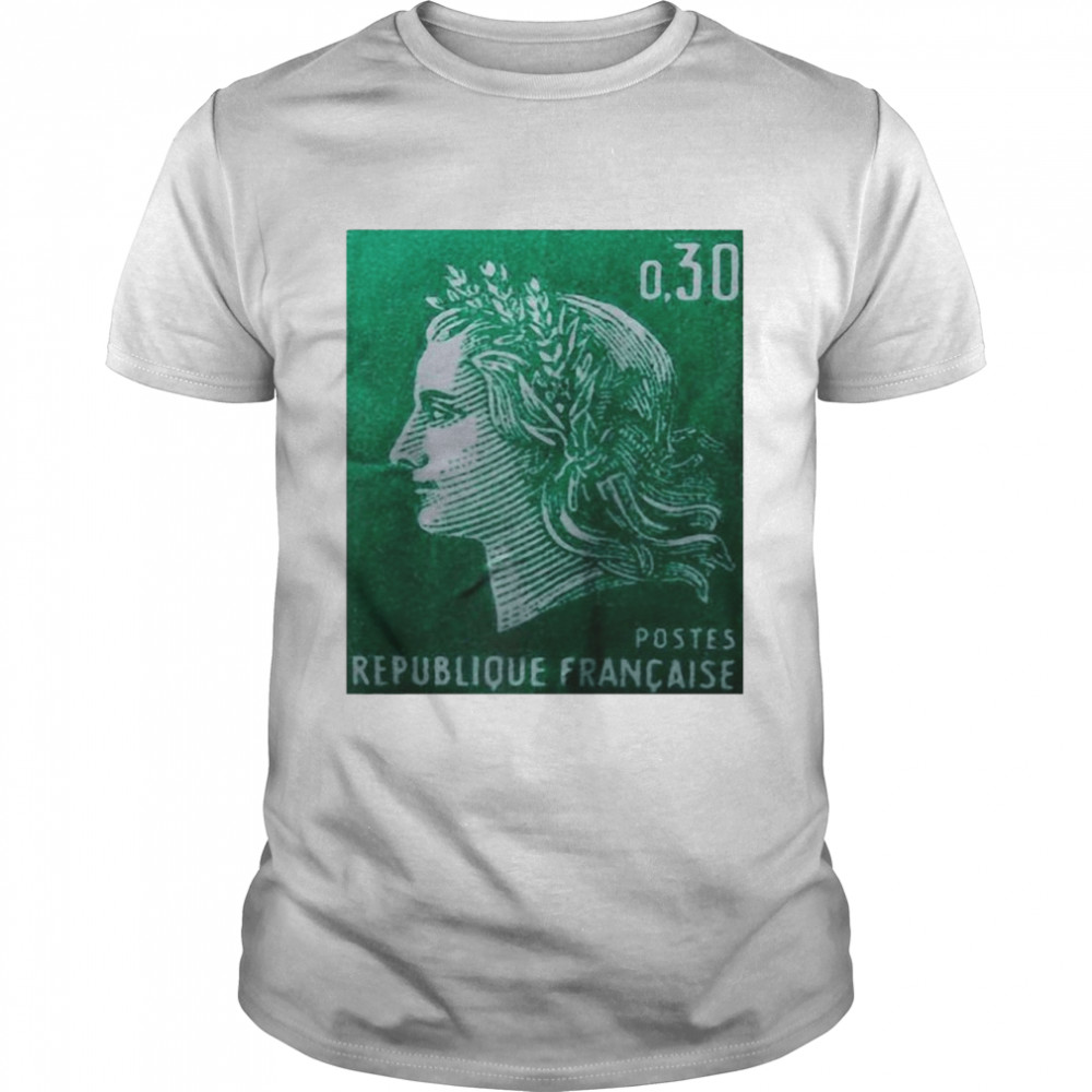 Postage Stamp French Vintage T-shirt